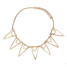 Open Spike Gold Matte Necklace!  #GoldJewelry #InspiredSilver #Gold #Jewelry #Necklace http://www.inspiredsilver.com/