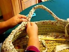 Basket Making Crocheting on Rope for Beginners Part 2