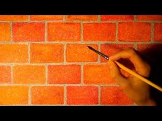 Drawing realistic brick wall in watercolor. Easy and simple. - YouTube