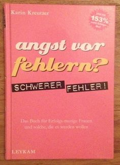 ANGST VOR FEHLERN Karin Kreutzer Verlag Leykam 2003   eBay