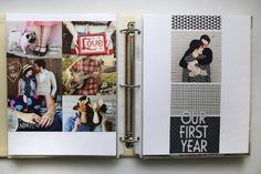 Scrapbooking for beginners | A year documented in a few weeks by @Elyse Exposito Woodbury Pehrson Larson of A Beautiful Mess