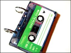 Mini-notebook from cassette tape, using rings