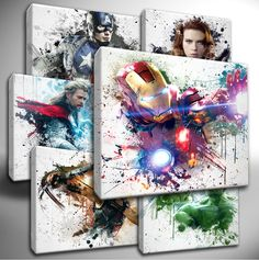 Details about Choose your Marvel AVENGERS paint splatter CANVAS Wall Art Picture Prints Link Below. – Choose Your Marvel Avenger P a i n t S. Marvel Avengers, Hero Marvel, Avengers Room, Marvel Nursery, Marvel Bedroom, Avengers Nursery, Wall Art Pictures, Canvas Pictures, Print Pictures