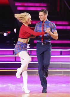 "James & Peta danced the Jive  to ""The Middle"" by Jimmy Eat World  -  ABC's  'Dancing With The Stars'  -  week 3  -  season 18  -  March 31, 2014  -   scored 9+9+9+9 =36 of 40 possible points  -  guest judge was GMA's Robin Roberts"