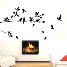 tree with birds wall sticker Wall Stickers, Decals, Wall Tattoo, Vinyl Art, Textured Walls, Birds, Bedroom Ideas, Paintings, Tattoos