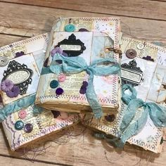 *pic only* Junk Journals! Sewing on paper is SEW much FUN! Handmade Journals, Handmade Books, Handmade Rugs, Handmade Crafts, Fabric Journals, Art Journals, Fabric Books, Vintage Journals, Round Robin