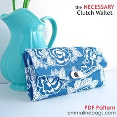 The Necessary Clutch Wallet - Emmaline Sewing Patterns and Purse Supplies