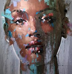 Unique & Original Painting by South African artist Jimmy Law available at Range of Arts I Contemporary Art Gallery I Sold artwork Abstract Portrait Painting, Portrait Art, Portraits, Jimmy Law, A Level Art Sketchbook, Art En Ligne, Black Artwork, Street Art, Fantastic Art