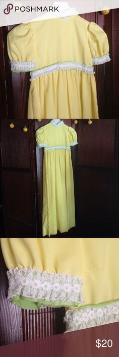 """Vintage 60s Dress Long 60s maxi dress with back zipper.  empire waist (under boob): 13"""" seam to seam lying flat  length: 44""""  bust: 15"""" seam to seam lying flat (not  accounting for the darts for a little extra room NOT ANTHRO BRAND just for search results ;) Anthropologie Dresses Maxi"""