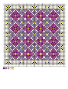 needlepoint charts | needlepoint hydrangea chart - hydrangea needlepoint pattern