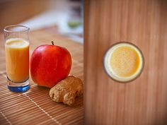 Ingefær shot, friskt og fantastisk velsmagende! #gingershot #ginger #juice #recipe