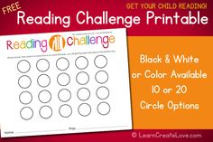 Reading Challenge with Printable