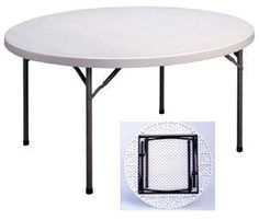Correll Round Folding Tables   Gray 60 Inch Diameter Table   CP60 5 Ft.  Round