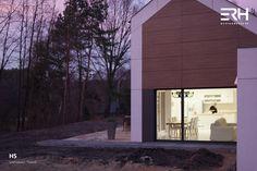 House H5 in Skierniewice, Poland #architecture #design #modernarchitecture #dreamhome #home #house #passivehouse #energysavinghouse #modernhome #modernhouse #moderndesign #homedesign #modularhouse #homesweethome #scandinavian #scandinaviandesign #lifestyle #familyliving #sunset #nature #ecoreadyhouse #erh