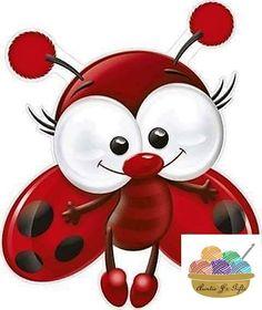 Cute Cartoon, Lady Bug, Cartoon Drawings, Cute Drawings, Cute Characters, Bugs, Stone Painting, Painted Rocks, Rock Art
