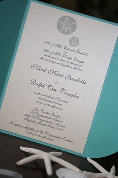 Sand Dollar Wedding Invitations | Too Chic & Little Shab Design Studio, Inc.Too Chic & Little Shab Design Studio, Inc.