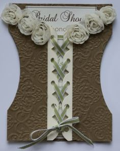 Created to be a Bridal shower invite, but love the idea of making it into a scrapbook page or gift card holder....
