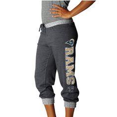 St. Louis Rams Women's Sport Princess II Heather Fleece Cropped Pants - Charcoal