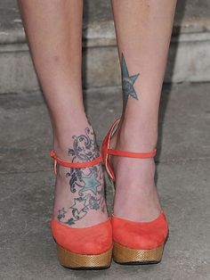 Star tattoos have become ever so popular among the stars! This design is super quirky, just like the star who owns it…