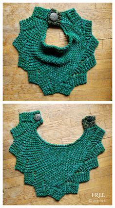 Capelet Knitting Pattern, Hooded Scarf Pattern, Bib Pattern, Lace Knitting Patterns, Free Knitting, Hooded Cowl, Free Pattern, Quick Knits, Hand Knit Scarf