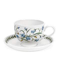 Look what I found on #zulily! Assorted Botanic Garden Teacup & Saucer - Set of Six #zulilyfinds