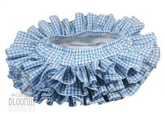 This listing is for one Gingham All Around Ruffle Diaper Cover Bloomer in Blue or pick your own gingham color.    Other Gingham colors available: