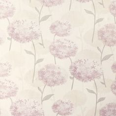 Laura Ashley Allium Amethyst Wallpaper at Homebase -- Be inspired and make your house a home. Buy now.