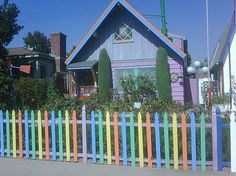 Somewhere over the rainbow! #picketfence #crazycolors