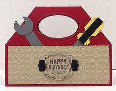 Toolbox Punch Art Stampin Up Birthday Card Kit 5 Cards | eBay