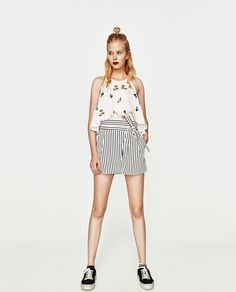 Image 1 of PLEATED BERMUDA SHORTS WITH BOW from Zara