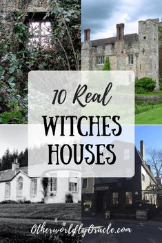 Learn about 10 REAL historical witches houses and cottages and caves! Houses of Marie Laveau, Bathsheba Sherman, Aleister Crowley, and More! Witch Spells Real, Real Witches, Wiccan Witch, Witches Brew, Witch Cottage, Witch House, The Witcher, English Cottage, Indie