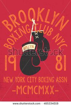 Vintage Boxing Gloves vector illustration. Template for print, t-shirt, poster…