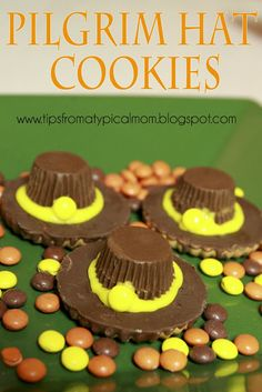Tips from a Typical Mom: {Pilgrim Hat Cookies} a Thanksgiving Treat!