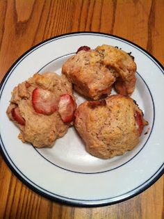 Strawberry and Cream Scones. A great brunch item and an even better way to use all those strawberries that you got on sale before they go bad!