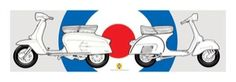 Vespa & Lambretta Haynes Slim Art Print (04-1193)