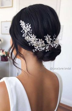 Sydney wedding hair stylist on beautiful updo on dark hair accessories selena by ulyana aster beautiful bridal updos that all are in trend Bridesmaid Hair Accessories, Wedding Accessories For Hair, Bride Accessories, Wedding Hair Inspiration, Wedding Ideas, Elegant Bride, Wedding Hair And Makeup, Down Hairstyles, Easy Hairstyles