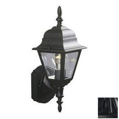 Galaxy�15-3/8-in H Black Outdoor Wall Light $25