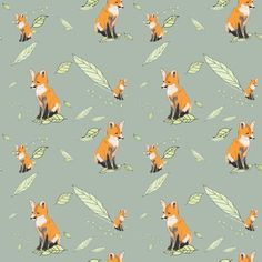 Foxes fabric fabric by nicolaclare for sale on Spoonflower - custom fabric, wallpaper and wall decals