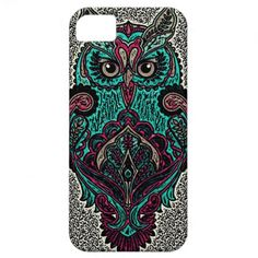 Teal Owl iPhone 5 Barely There Case