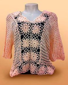 MARILAC ARTESANATOS: Blusa Anne Salmão Vamos crochetar ?????????