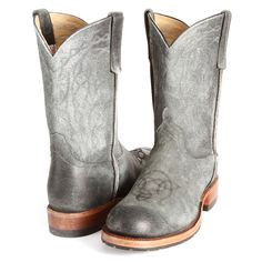 BootDaddy Collection with Anderson Bean Black Sinsation Cowboy Boots [LOVE the stitching and lug soles!]