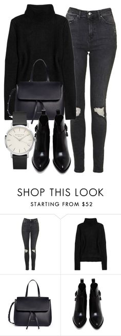 """Untitled #6376"" by laurenmboot ❤ liked on Polyvore featuring Topshop, T By Alexander Wang, Mansur Gavriel and Alexander Wang"