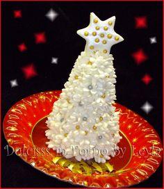 Árbol de Navidad - árbol de Navidad, la pasta de azúcar tutorial   Dulcisss en horno  