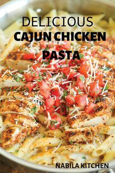 Pastas Recipes, Pasta Dinner Recipes, Chicken Pasta Recipes, Cajun Recipes, Italian Recipes, Cooking Recipes, Healthy Recipes, Pizza Recipes, Creamy Cajun Chicken Pasta
