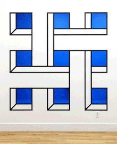 New-York based artist Aakash Nihalani creates playful optical illusion tape art installations that trick the eye and blur dimensions. Tape Art, 3d Street Art, Arte Linear, Graffiti, Street Installation, Paint Drop, Colossal Art, Illusion Art, Art Furniture
