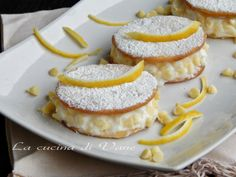 Deliziose ricotta limone e cioccolato bianco