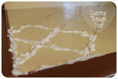 Clean grout on tile floor ... Borax, baking soda  water..