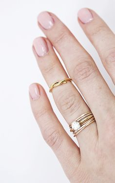 I love how this midi-ring has a little twist to it!