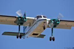COWI Aerial Survey Britten-Norman BN-2A-21 Islander OY-CKS arriving Trondheim Værnes (TRD/ENVA), 29. may 2014.