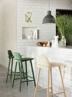 I love the Nerd Stool especially in petroleum and green! My dream stool for our kitchen...